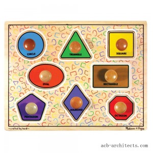 Melissa & Doug Large Shapes Jumbo Knob Wooden Puzzle (8pc) - Sale