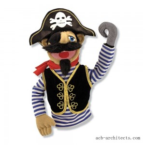 Melissa & Doug Pirate Puppet With Detachable Wooden Rod - Sale