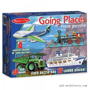 Melissa And Doug Going Places Vehicles Floor Puzzles 48pc - Sale