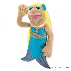 Melissa & Doug Mermaid Puppet With Detachable Wooden Rod for Animated Gestures - Sale