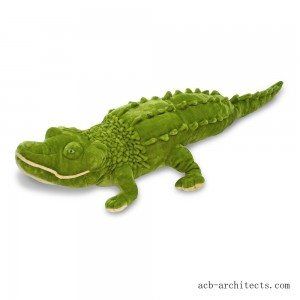 Melissa & Doug Giant Alligator - Lifelike Stuffed Animal (nearly 6 feet long) - Sale