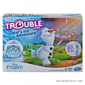 Trouble Disney Frozen Olaf's Ice Adventure Game - Sale