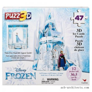 Cardinal Disney Frozen 3D Hologram Ice Castle Puzzle 47pc, Kids Unisex - Sale