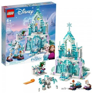 LEGO Disney Princess Elsa's Magical Ice Palace 43172 Toy Castle Building Kit with Mini Dolls - Sale