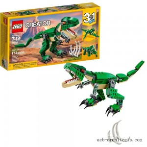 LEGO Creator Mighty Dinosaurs 31058 Build It Yourself Dinosaur Set, Pterodactyl, Triceratops, T Rex Toy - Sale
