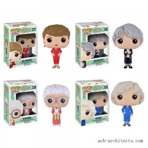 Funko Golden Girls: POP! TV Collectors Set; Sophia, Rose, Blanche, Dorothy - Sale
