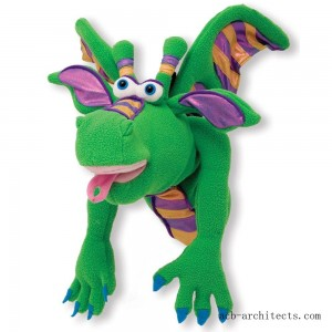 Melissa & Doug Smoulder the Dragon Puppet With Detachable Wooden Rod for Animated Gestures - Sale