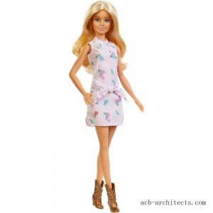 Barbie Fashionistas Doll #119 Pink Shirt Dress - Sale