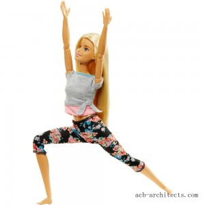 Barbie Made To Move Yoga Doll - Floral Pink - Sale