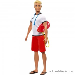 Barbie Ken Career Lifeguard Doll - Sale