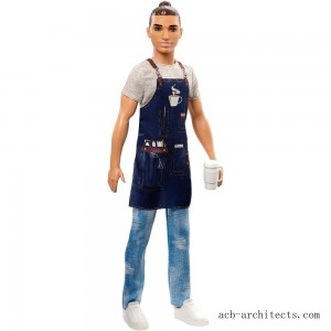 Barbie Ken Career Barista Doll - Sale