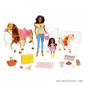 Barbie Hugs 'N' Horses Playset - Sale