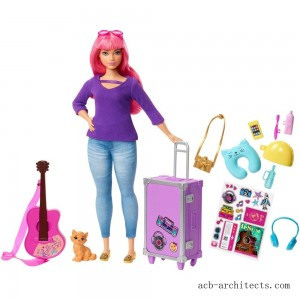 Barbie Daisy Travel Doll & Kitten Playset - Sale