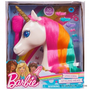 Barbie Dreamtopia Unicorn Styling Head 10pcs - Sale