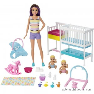 Barbie Skipper Babysitters Inc Nap 'n' Nurture Nursery Dolls and Playset - Sale