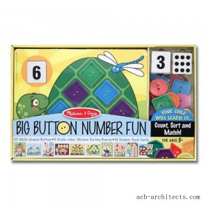 Melissa & Doug Big Button Number Fun Counting and Matching Activity Set Board Game, Kids Unisex - Sale