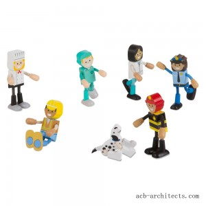 Melissa & Doug Wooden Flexible Figures - Careers - Sale