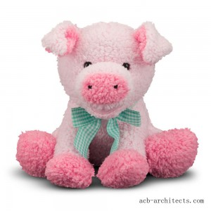 Melissa & Doug Meadow Medley Piggy - Stuffed Animal With Sound Effect - Sale