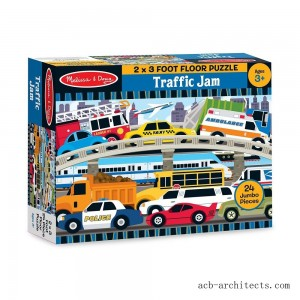 Melissa And Doug Traffic Jam Jumbo Floor Puzzle 24pc - Sale