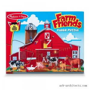 Melissa And Doug Farm Friends Jumbo Floor Puzzle 32pc - Sale
