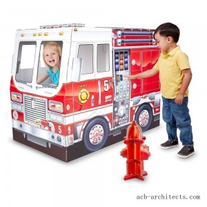 Melissa & Doug Fire Truck Indoor Playhouse - Sale
