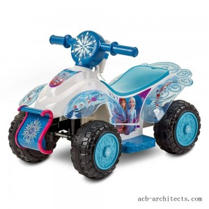 Frozen 2 Kid Trax Sing and Ride Toddler 6V Quad - White - Sale