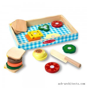 Melissa & Doug Wooden Sandwich-Making Pretend Play Food Set - Sale