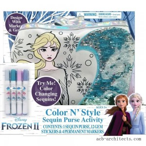 Disney Frozen 2 Color and Style Sequin Purse Activity Set - Sale