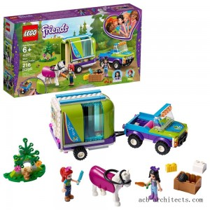 LEGO Friends Mia's Horse Trailer 41371 Building Kit with Mia and Stephanie Mini Dolls 216pc - Sale
