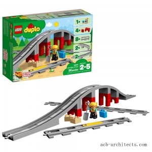 LEGO DUPLO Town Train Bridge and Tracks 10872 - Sale