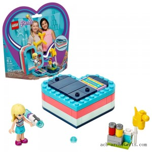 LEGO Friends Stephanie's Summer Heart Box 41386 Portable Toy Building Set, Stephanie Mini Doll 95pc - Sale