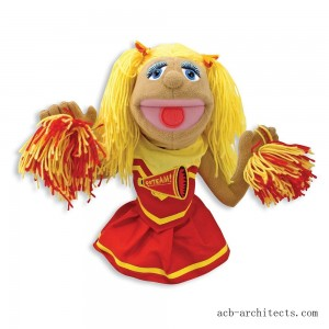 Melissa & Doug Cheerleader Puppet With Detachable Wooden Rod - Sale