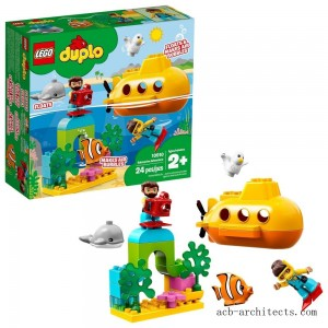 LEGO DUPLO Submarine Adventure 10910 Bath Toy Building Set for Toddlers with Toy Submarine 24pc - Sale