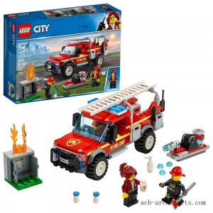 LEGO City Fire Chief Response Truck 60231 Building Set with Toy Firetruck and Ladder 201pc - Sale
