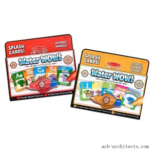 Melissa & Doug On the Go Water Wow Splash Cards, 2-Pack - Alphabet and Numbers and Colors - Sale