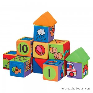 Melissa & Doug K's Kids Match and Build Soft Blocks Set - Sale