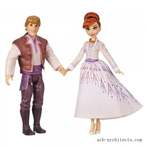 Disney Frozen 2 Anna and Kristoff Fashion Dolls 2pk - Sale