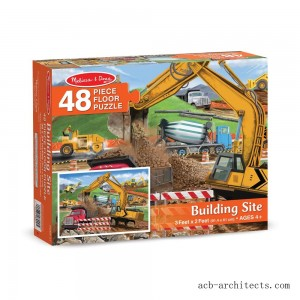 Melissa And Doug Building Site Jumbo Floor Puzzle 48pc - Sale
