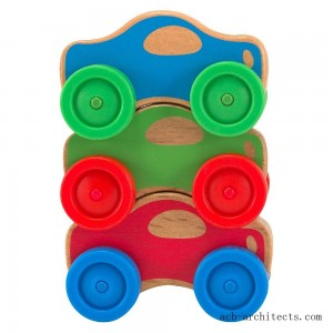 Melissa & Doug Stacking Cars Wooden Baby Toy - Sale