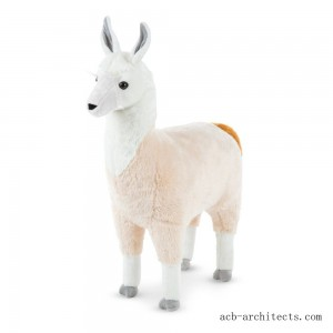 "Melissa & Doug Standing Lifelike Plush Llama Stuffed Animal (31"" x 30 "" x 9.5"") - Sale"