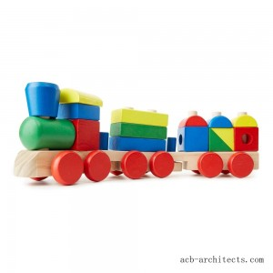 Melissa & Doug Stacking Train - Classic Wooden Toddler Toy (18pc) - Sale