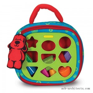Melissa & Doug K's Kids Take-Along Shape Sorter Baby Toy With 2-Sided Activity Bag and 9 Textured Shape Blocks - Sale