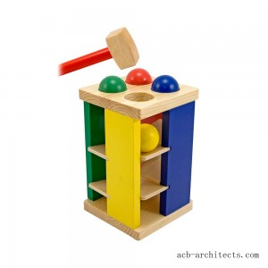 Melissa & Doug Deluxe Pound and Roll Wooden Tower Toy With Hammer - Sale
