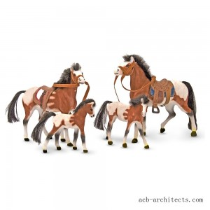 Melissa & Doug Horse Family With 4 Collectible Horses - Sale