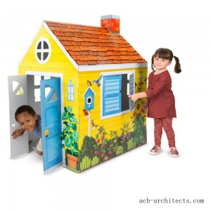 Melissa & Doug Country Cottage Indoor Corrugate Playhouse (Over 4' Tall) - Sale