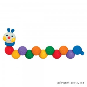 Melissa & Doug K's Kids Build an Inchworm Snap-Together Soft Block Set for Baby - Linkable, Twistable, Stackable, Squeezable - Sale