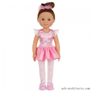 Melissa & Doug Victoria 14-Inch Poseable Ballerina Doll With Leotard and Tutu - Sale