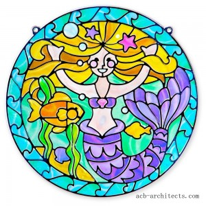 Melissa & Doug Stained Glass Made Easy Activity Kit: Mermaids - 140+ Stickers - Sale