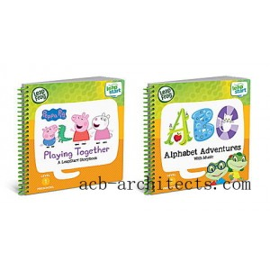 LeapStart® 2 Book Combo Pack: Playing Together and Alphabet Adventures Ages 2-5 yrs. - Sale