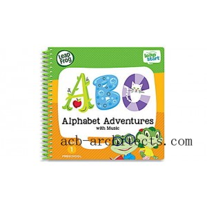 LeapStart® Alphabet Adventures with Music 30+ Page Activity Book Ages 2-4 yrs. - Sale